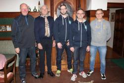 Von li. Dieter Göpfert, Rainer Wolf, Dennis Nowack, Jürgen Johanni, Volker Zink